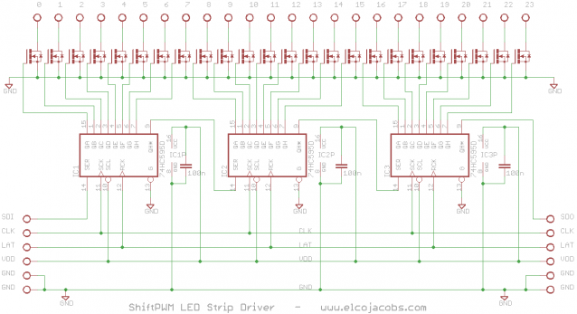 Using Shiftpwm To Control Rgb Led Strips With Arduino Led Led Strip Stripping