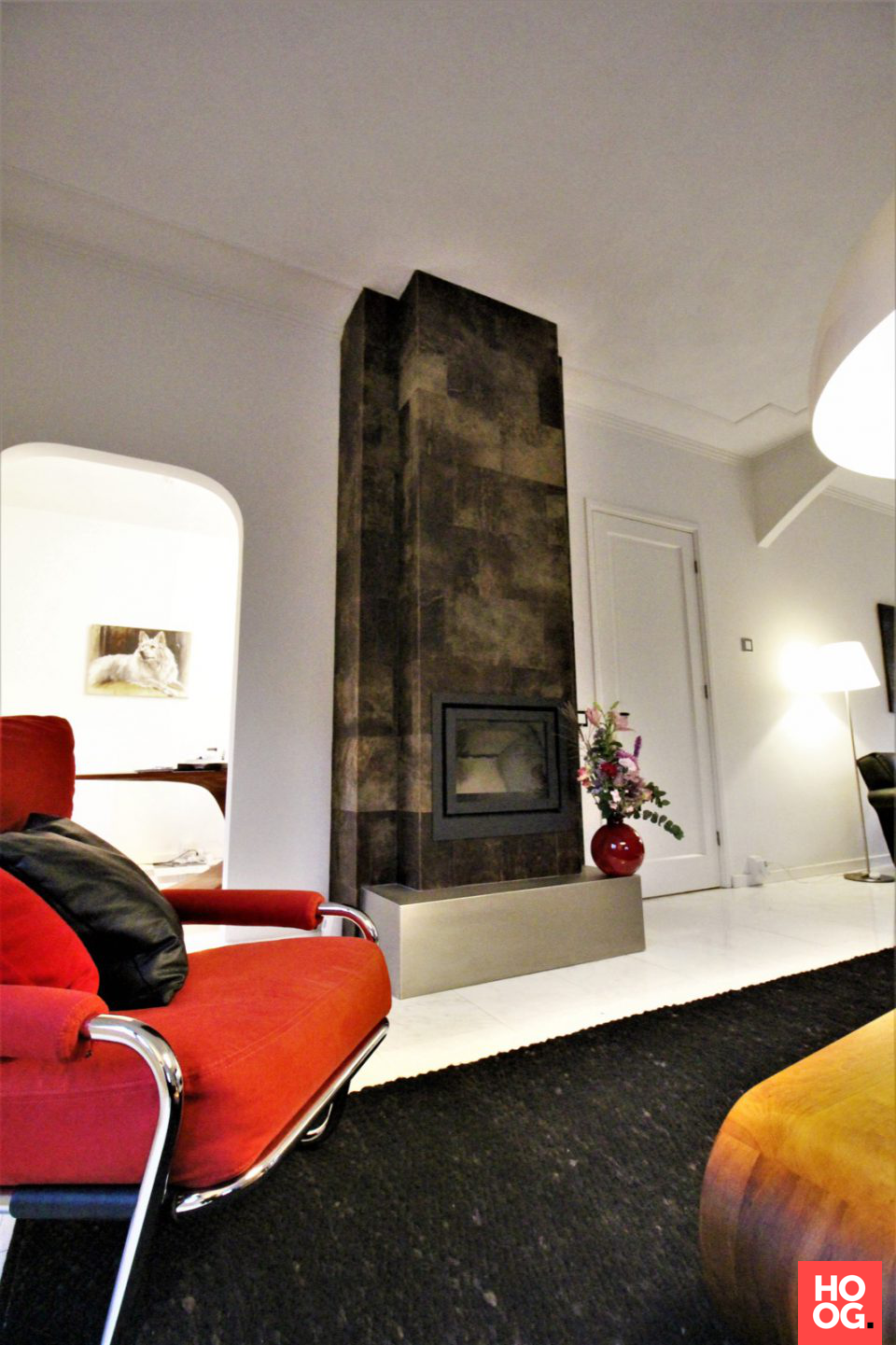 Luxe woonkamer inrichting - Haard vrijstaand   Pinterest - Haard ...