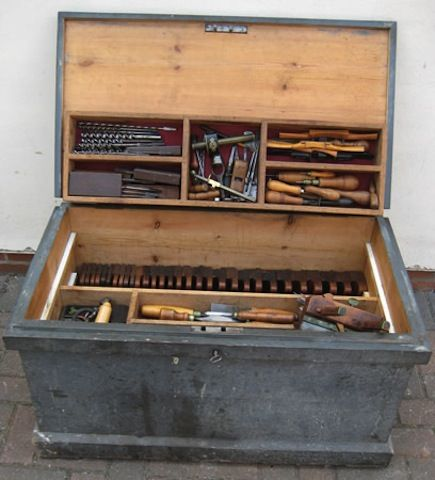 A Well Loved Tool Chest Wood Tool Box Woodworking Tools Wooden Tool Boxes