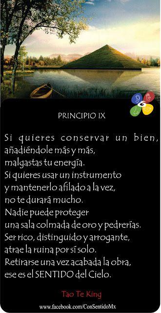 Consentido Tao Te King Principio 9 Tao Frases De La