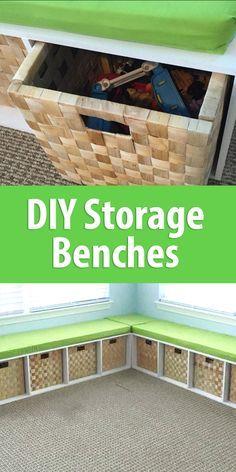 Diy Storage Benches Kids Toy Bench