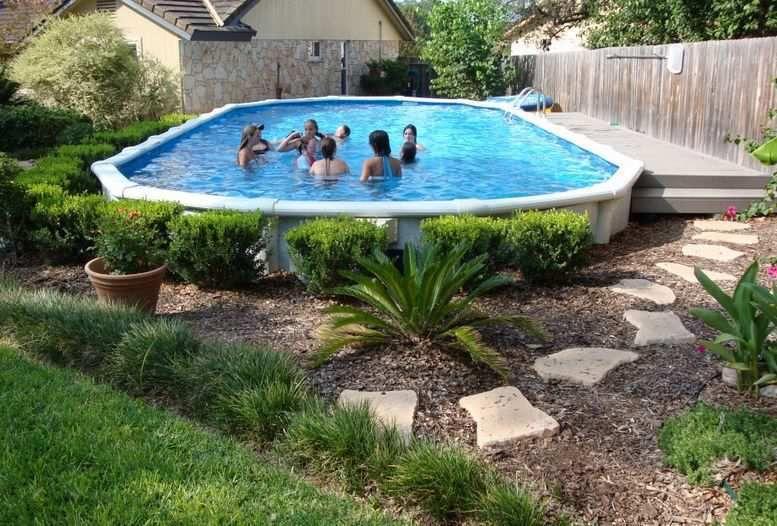 Above Ground Pools Dayton Ohio For Medium Pool Size With Pool Landscape Design Above Ground Pool Landscaping Best Above Ground Pool