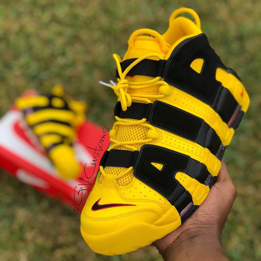 Gorgeous  BUMBLEBEE Uptempo by   gv.customs For   yellow tk luv   dailysneakerlife b9d2ddcee