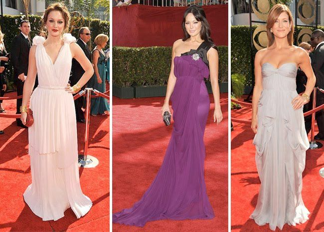 An Old Red Carpet Tradition Greek Inspired Dresses
