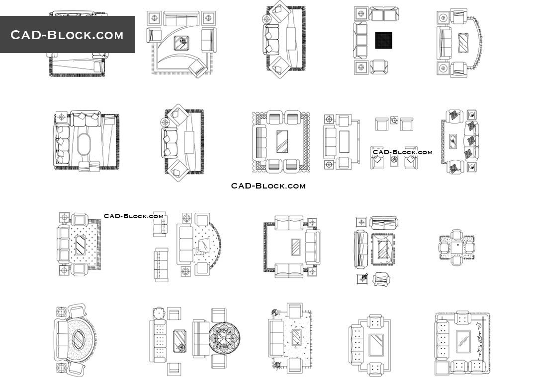 Living Room Cad Block Architecture Learn Pinterest -> Muebles Sala De Estar Autocad