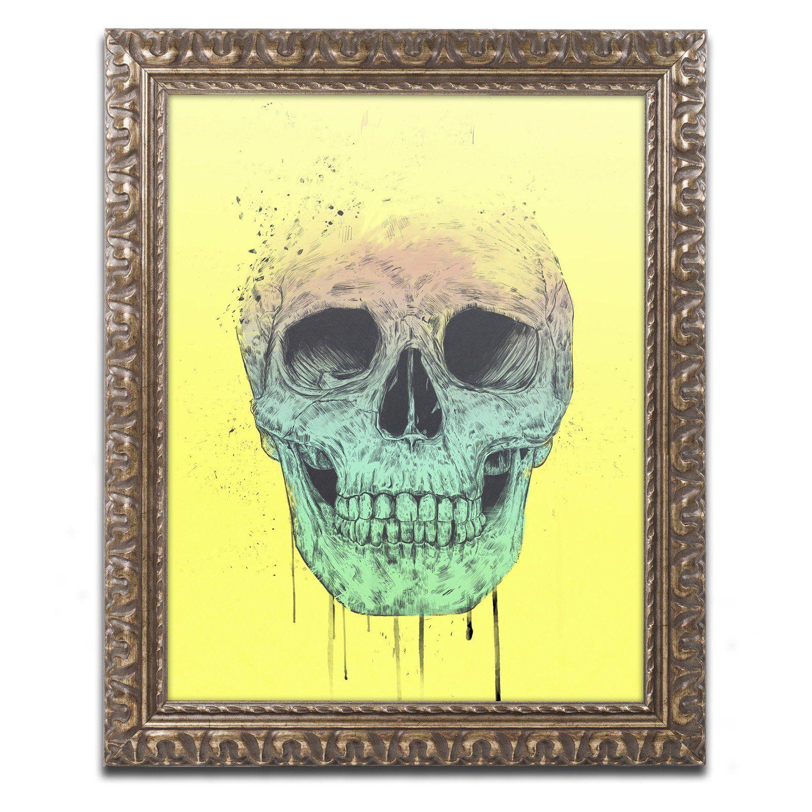 Trademark Fine Art Balazs Solti Pop Art Skull Framed Wall Art ...