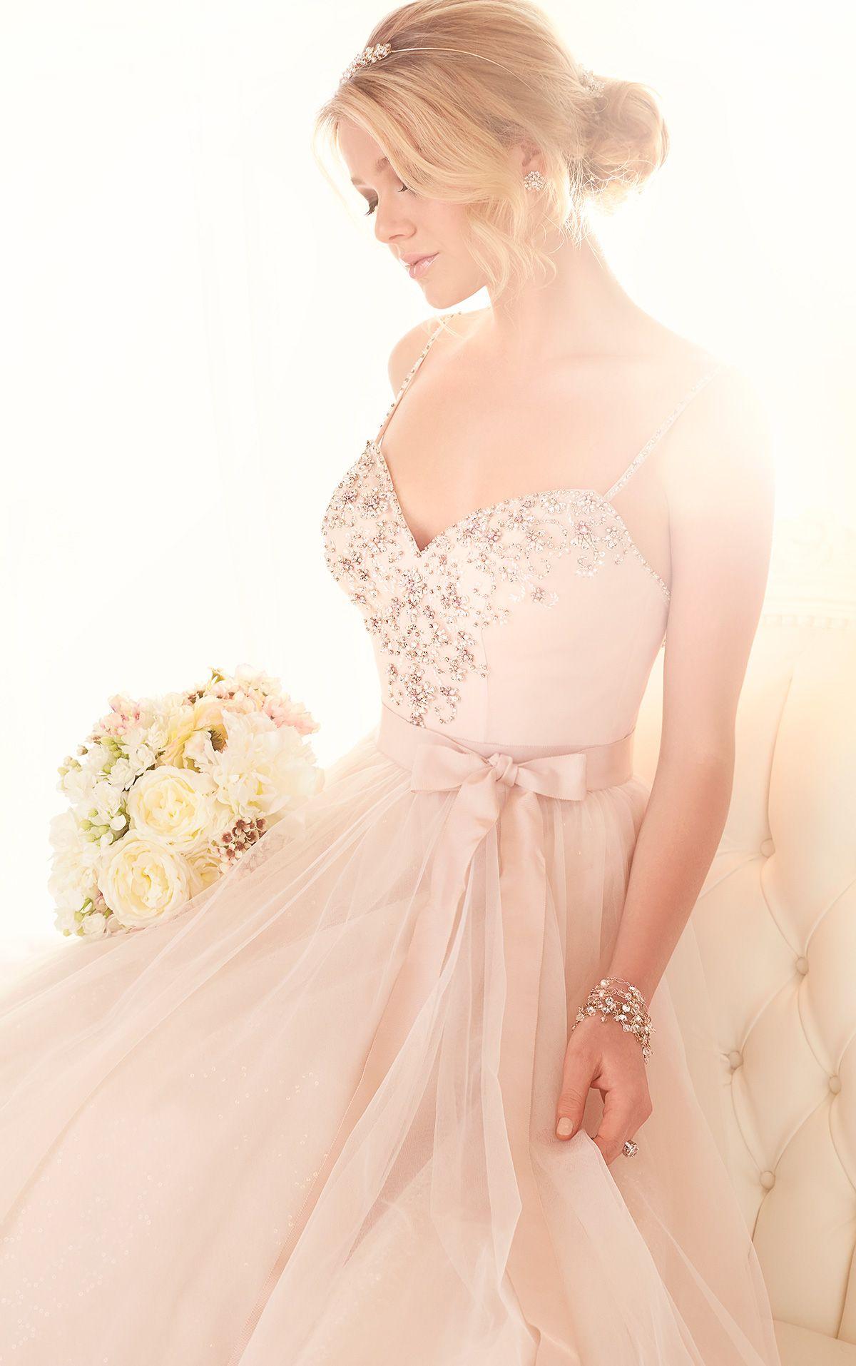 Sweetheart neckline wedding gown from essense of australia style
