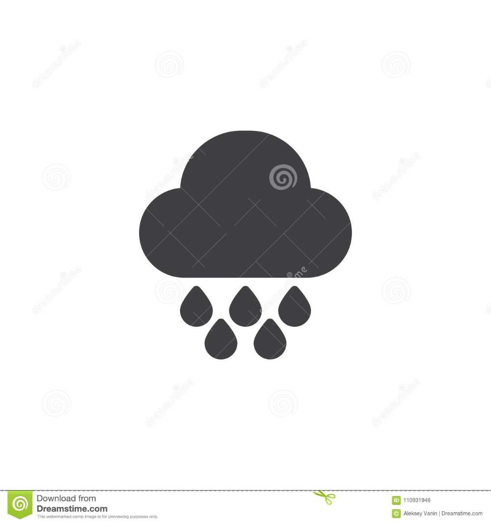 Rain Drops And Cloud Vector Icon Stock Vector Illustration Of Sign Raindrop 110931946 Cloud Vector Vector Icons Vector Illustration