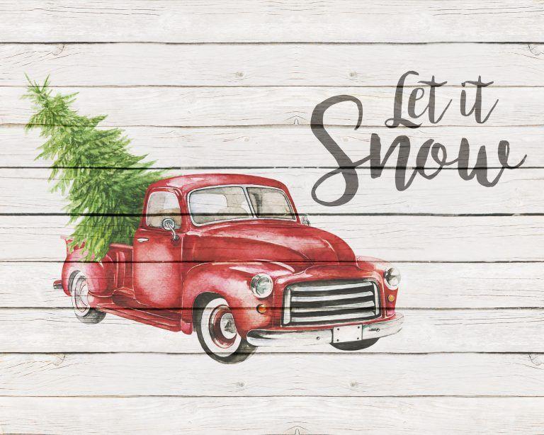 Free Printable Farmhouse Christmas Truck Wall Art | Free printable ...