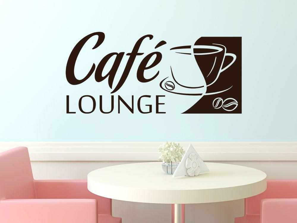 wandtattoo f r k che spruch caf lounge kaffee tee genusspur pinterest wandtattoo. Black Bedroom Furniture Sets. Home Design Ideas