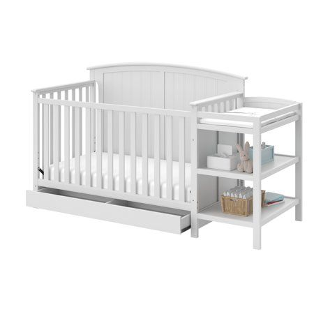 Storkcraft Steveston 4 In 1 Crib And Changer With Drawer White In 2019 Products Convertible Crib Cribs 4 In 1 Crib