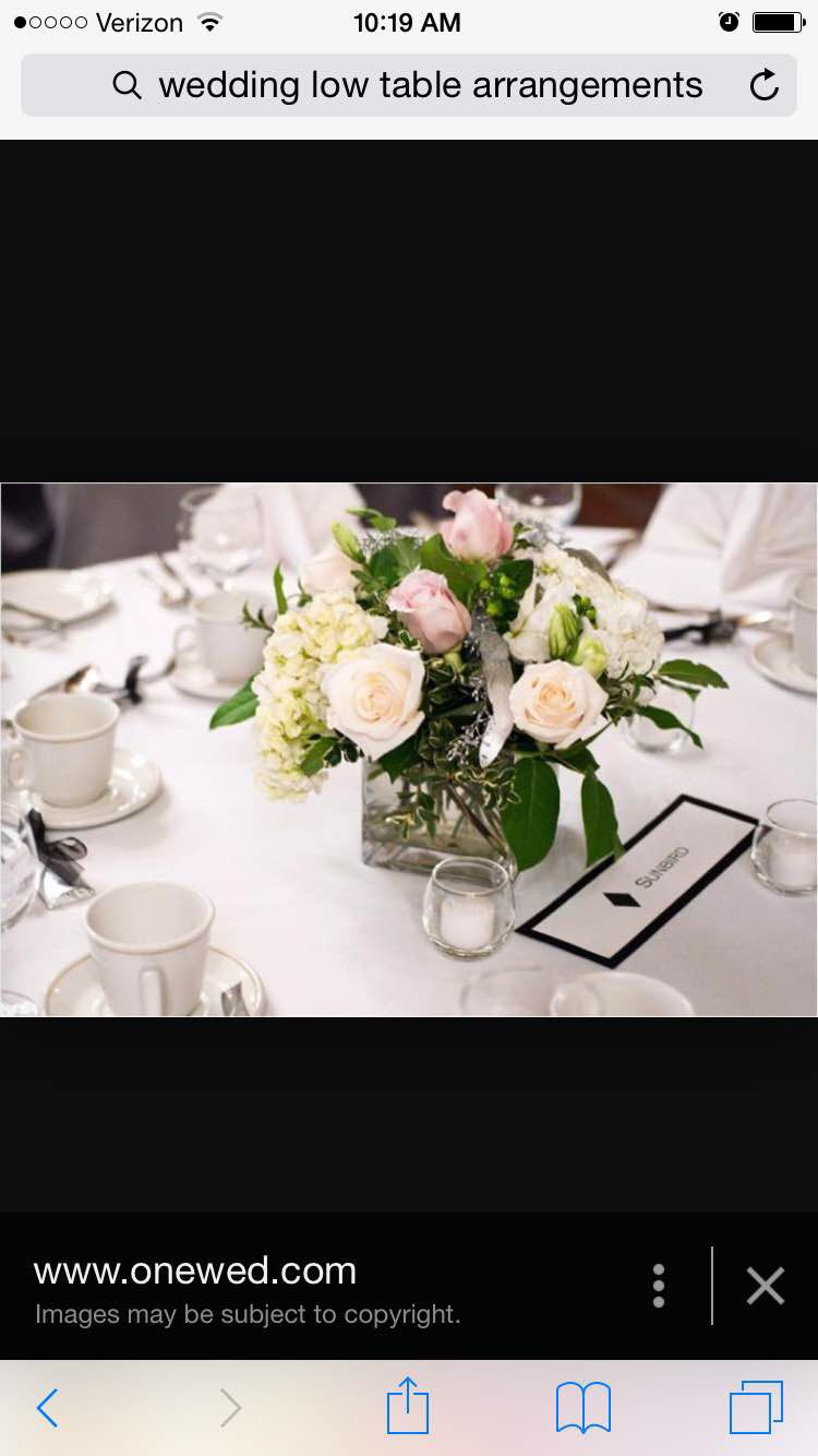 Floral short table centerpiece