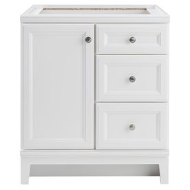 Photo On Diamond FreshFit Calhoun White Transitional Bathroom Vanity Common in x