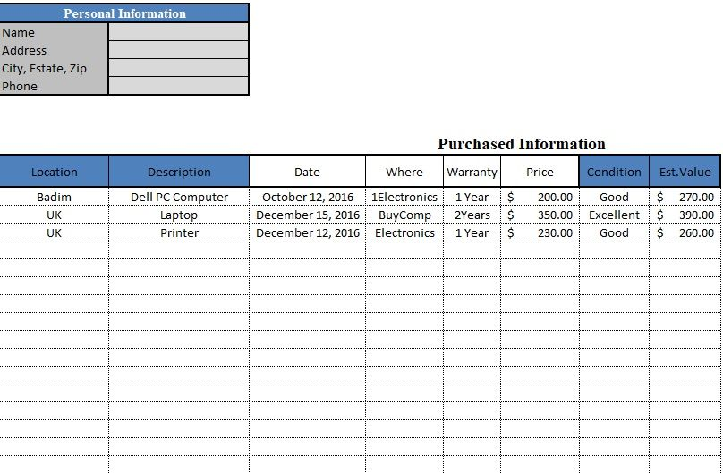 Stock Maintain Template In Excel Sheet Free Download Excel Sheet Business Template Templates