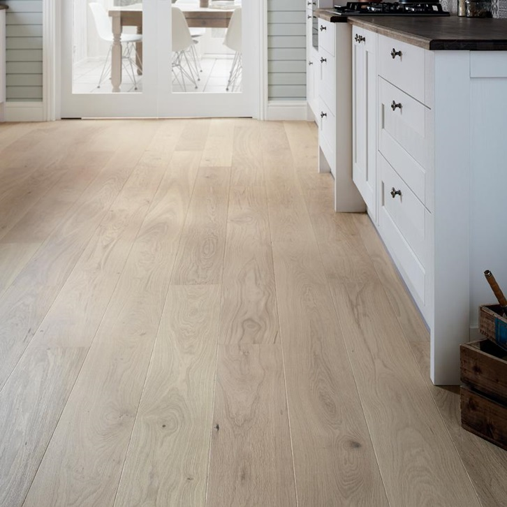 Make A Space Look And Feel Brighter With Our Real Wood Fast Fit Light White Oak Single Plank Floor White Oak Hardwood Floors White Oak Wood Engineered Flooring