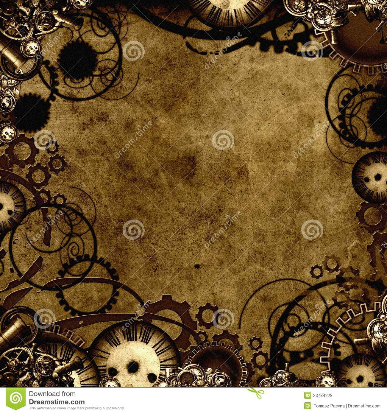 Steampunk Background Texture - Over 39