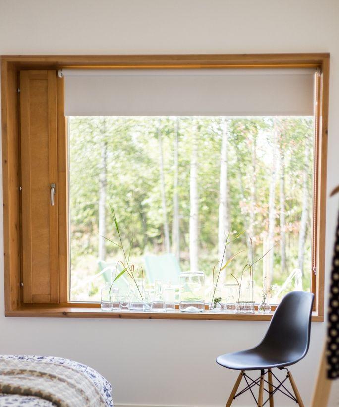 Tiivi ikkunat. Kiinteä ikkuna tuuletusluukulla, tammikuulto. Lakka kivitalot- Asuntomessut 2014