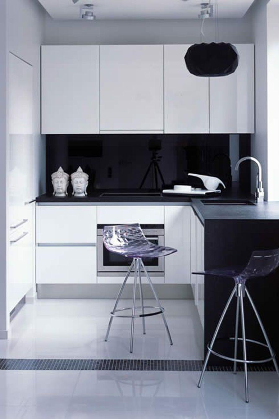 Siyah beyaz mutfak. Black and white kitchen. | Mutfak | Pinterest