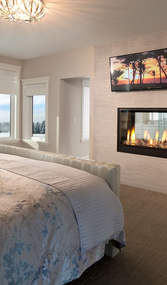Best Luxury Master Bedroom With A 2 Way Gas Fireplace And Flat 400 x 300