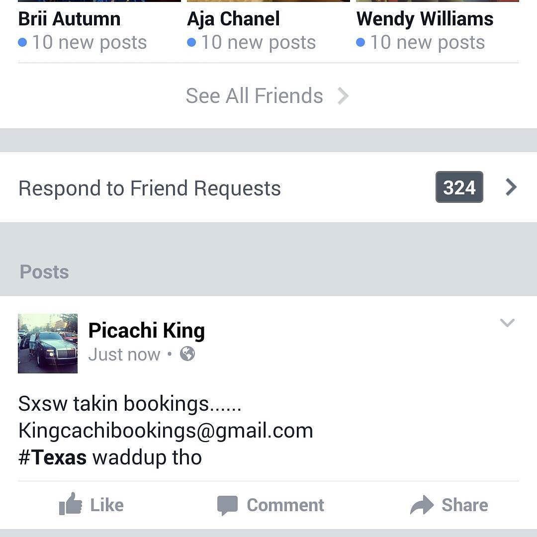 #SxSw #Texas Taking Bookings... KingCachibookings@gmail.com #MrIDntFukkAround #IDFA #IDntFukkAround  #Promoters #Designers #Artist  Hit me!!! #sxsw2016 @xxl #MvneyMvkerz by kingcachi