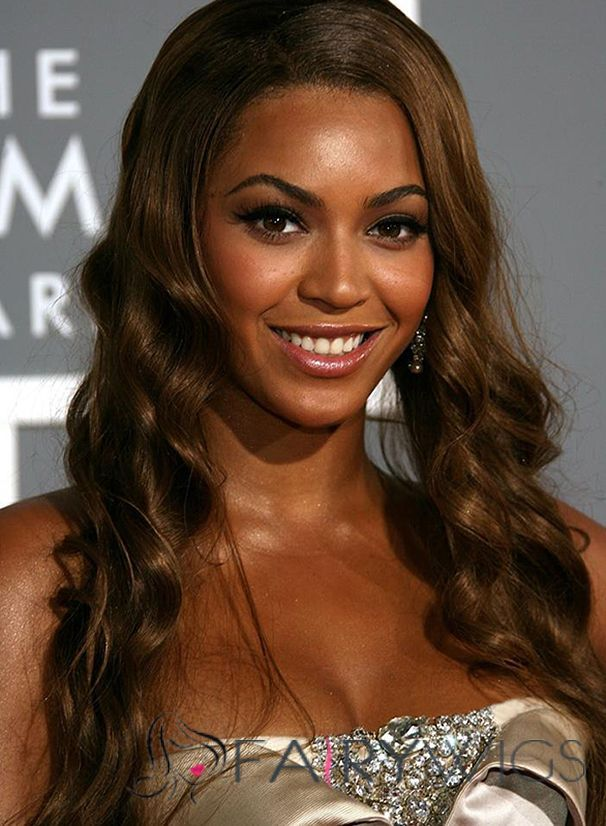 Lace Front Medium Wavy Sepia Beyonce Knowles Hair Wigs Wig Hairstyles Celebrity Long Hair Beyonce