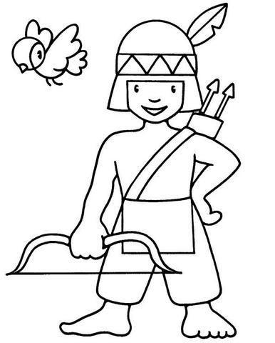 Imagen Relacionada Dibujos Para Colorear Dibujo Indio Y