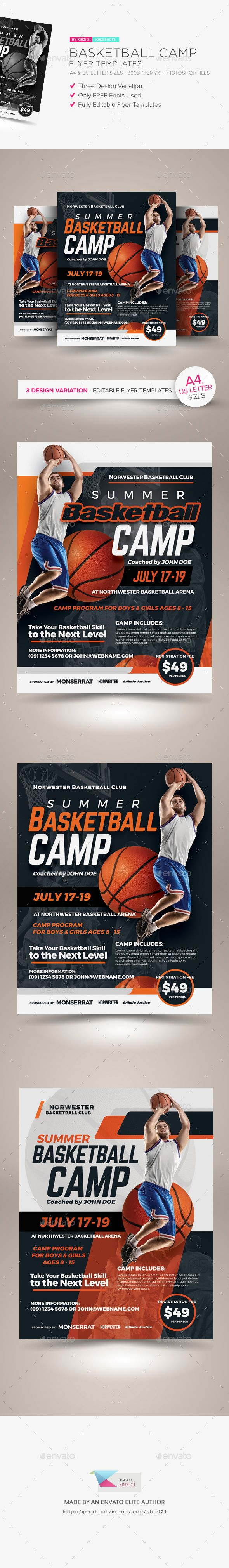 basketball camp flyer templates flyer template psd game camp