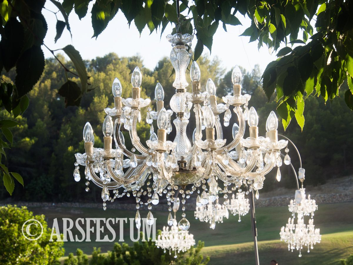Chandeliers Mallorca Ibiza Wedding Decoration Planner Elegant Biniorella