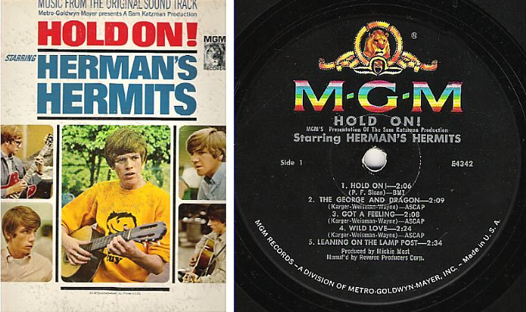 Herman S Hermits Hold On 1966 Mgm E 4342 Lp 3 50 Herman S Hermits Mgm Songs