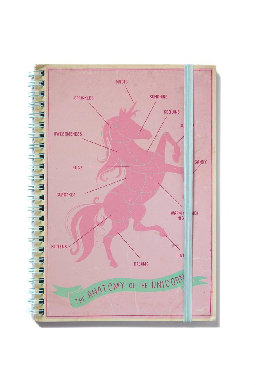 a5 spinout notebook, UNICORN ANATOMY | Typo: Lust List | Pinterest ...