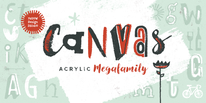 Canvas Acrylic Megafamily Webfont Desktop Font Myfonts With Images Canvas Font Shop Cool Fonts