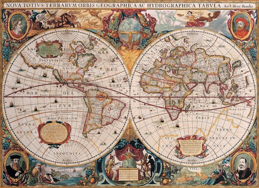 Antique world map 1000pc jigsaw puzzle by eurographics gumiabroncs Image collections