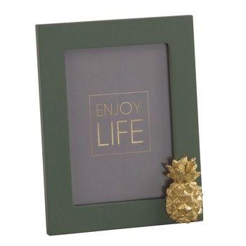 Cadre photo 7x10 ananas vert et doré | Maison du monde | Pinterest ...