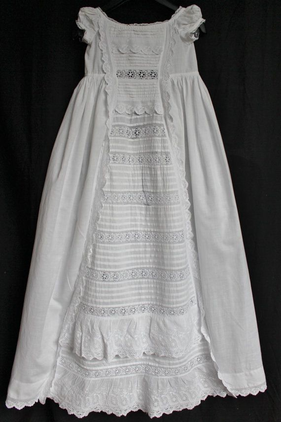 Antique Christening Gown Baptism Dress