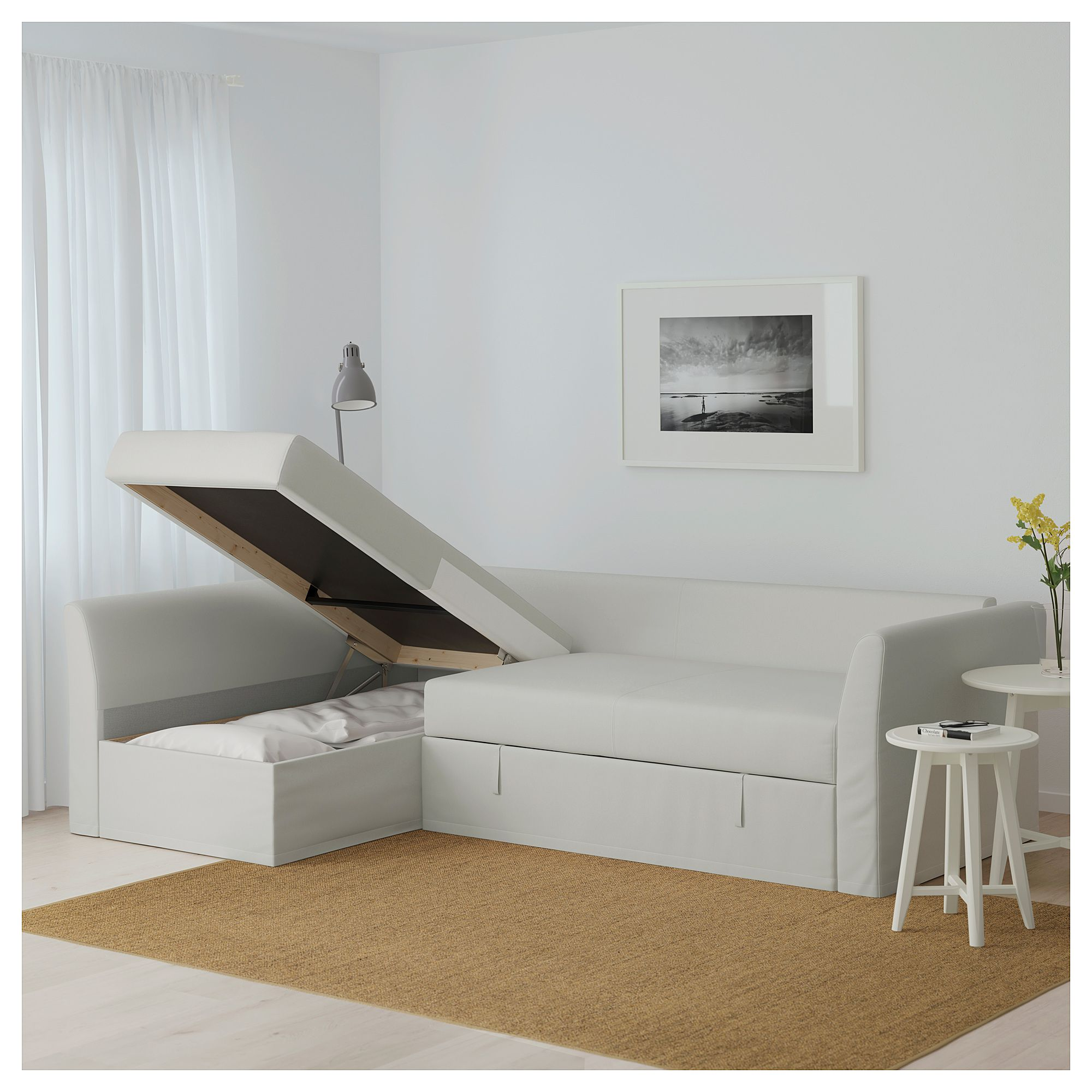 - HOLMSUND Sleeper Sectional, 3-seat - Orrsta Light White-gray