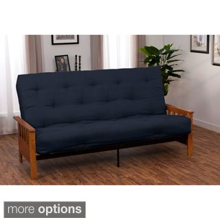 For Provo Queen Size Mission Style Frame Cotton Foam Futon Set Get Free Shipping At Com Your Online Furniture Outlet