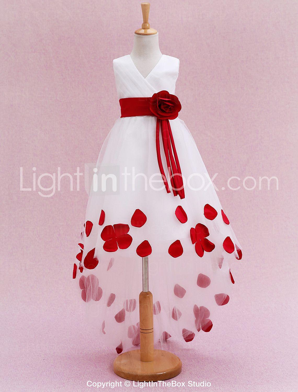 princesa vestido de la muchacha de la flor del tren de la capilla ...