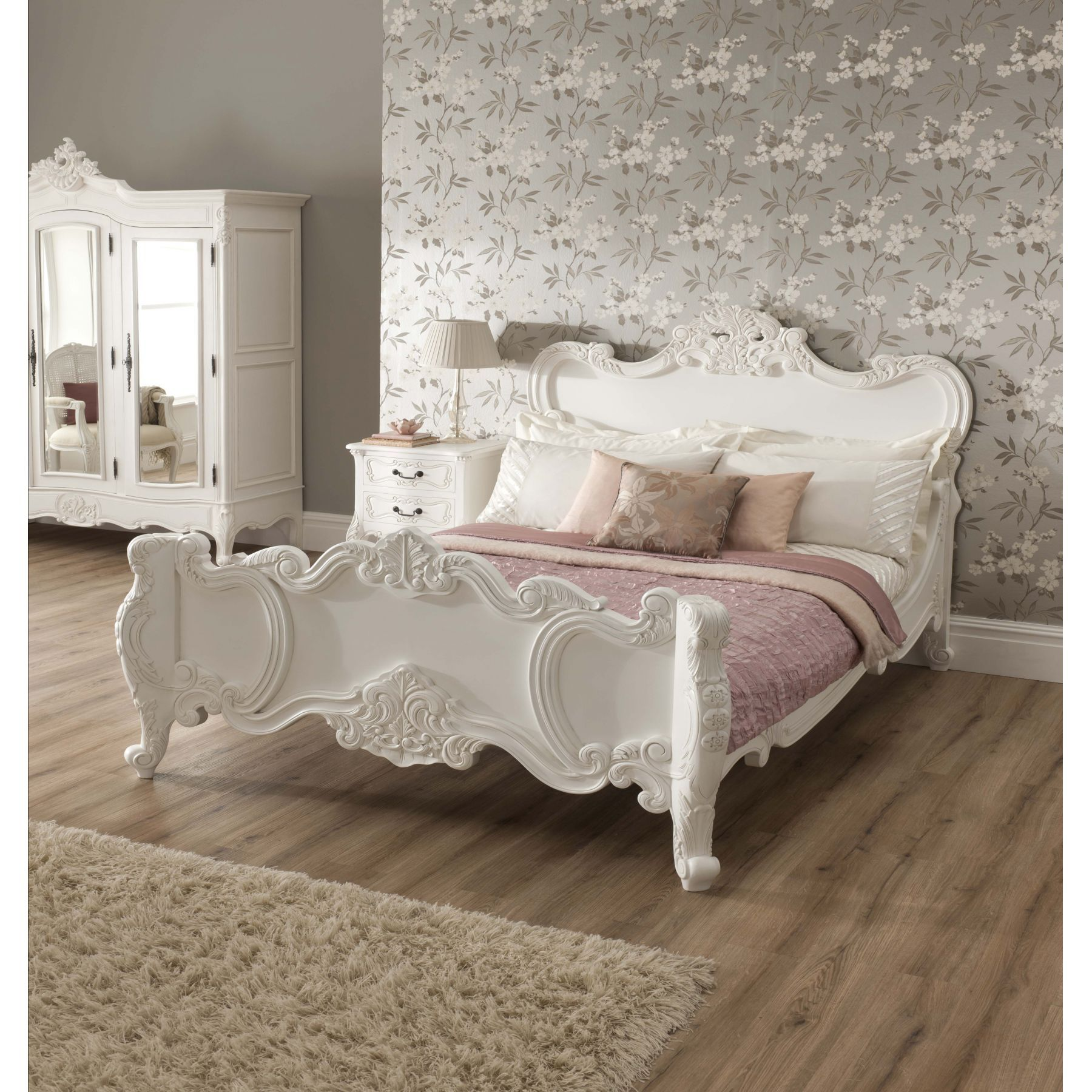 white furniture shabby chic. compliment our shabby chic furniture with this wonderful stunning la rochelle french bed white r