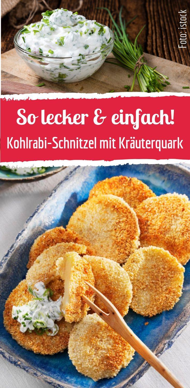 Kohlrabischnitzel mit Kräuterquark #mexicancooking