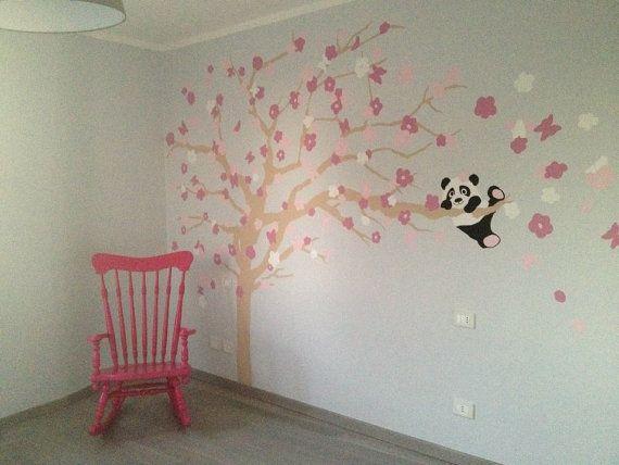 Murales camerette ~ Decorazione murale per camerette bambini un panda sull albero on