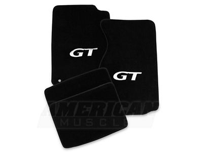 Lloyd Mustang Front Rear Floor Mats W Silver Gt Logo Black 12151 99 04 All Gt Logo Mustang Ford Mustang Parts