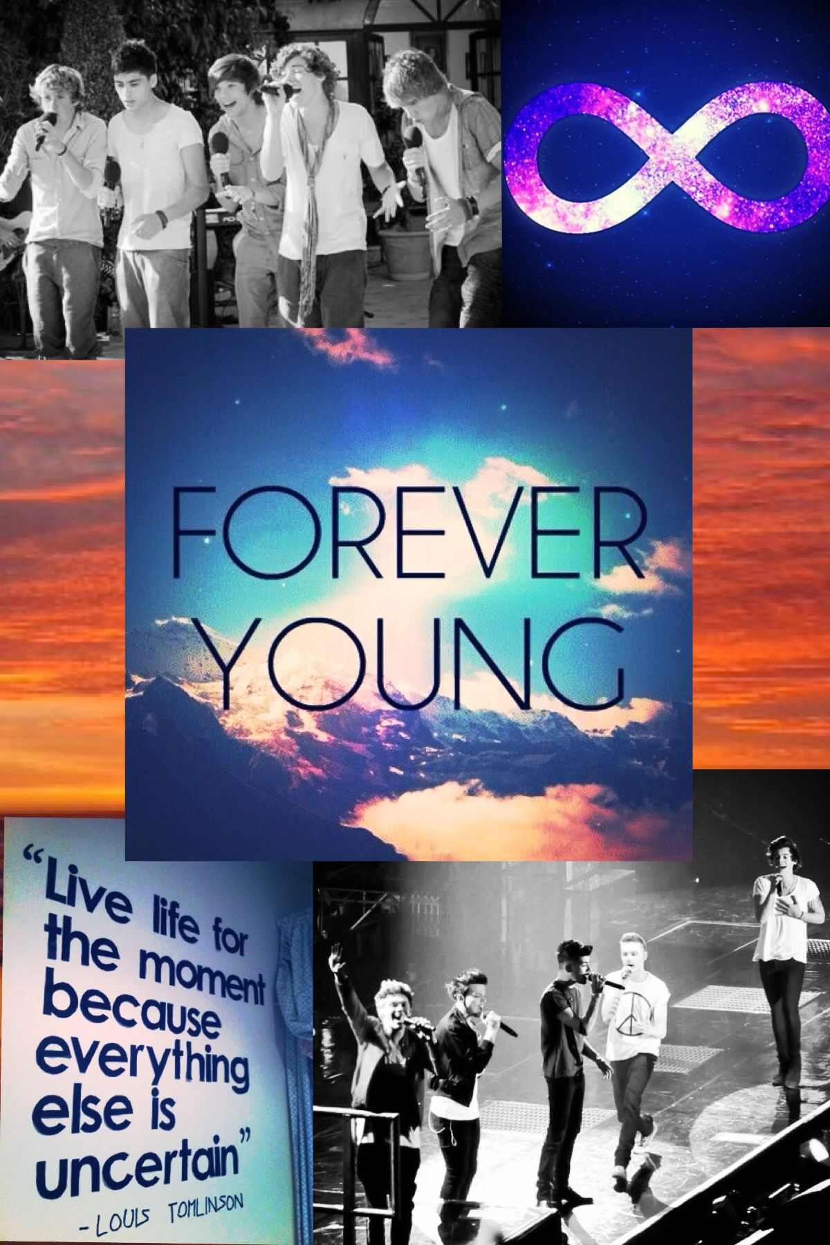 A One Direction Forever Young edit I made. :) Please give me credit if you pin this.