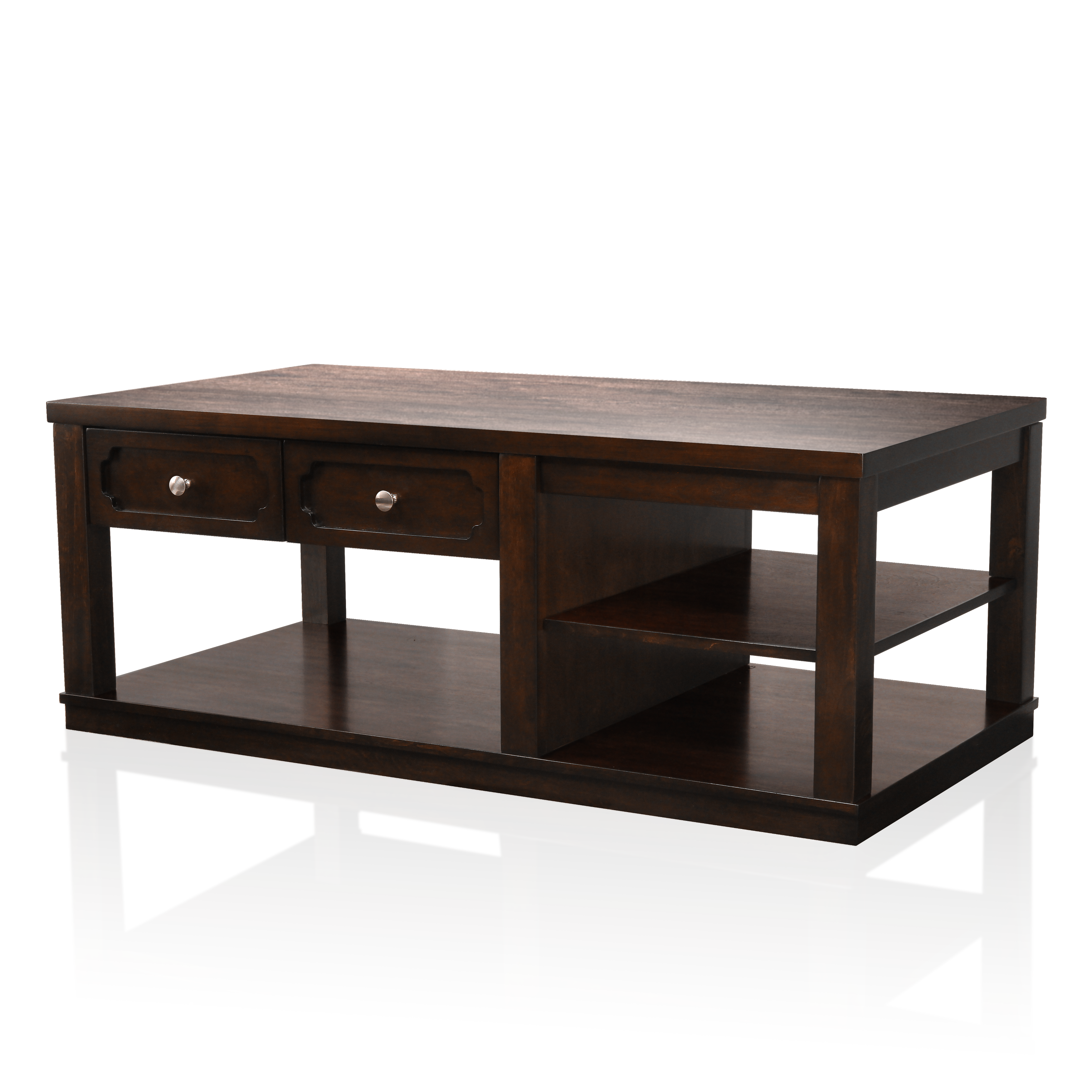 Divonne Brown Cherry Finish Coffee Table In 2020 Coffee Table Table Coffee Table Dimensions [ 3500 x 3500 Pixel ]