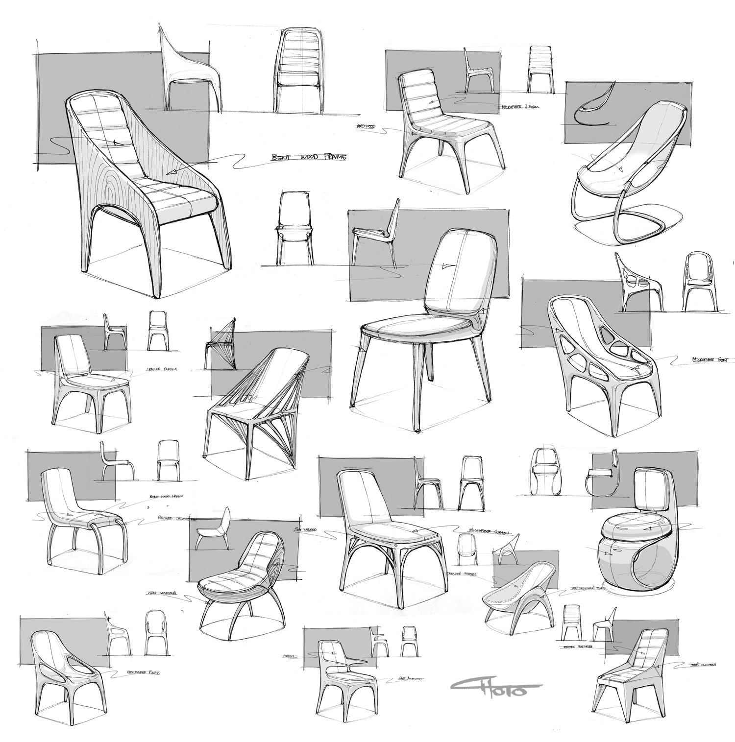 Modern furniture sketches chair sketches - Stroller Sketch From Instagram Matthew Choto Chair Designfurniture