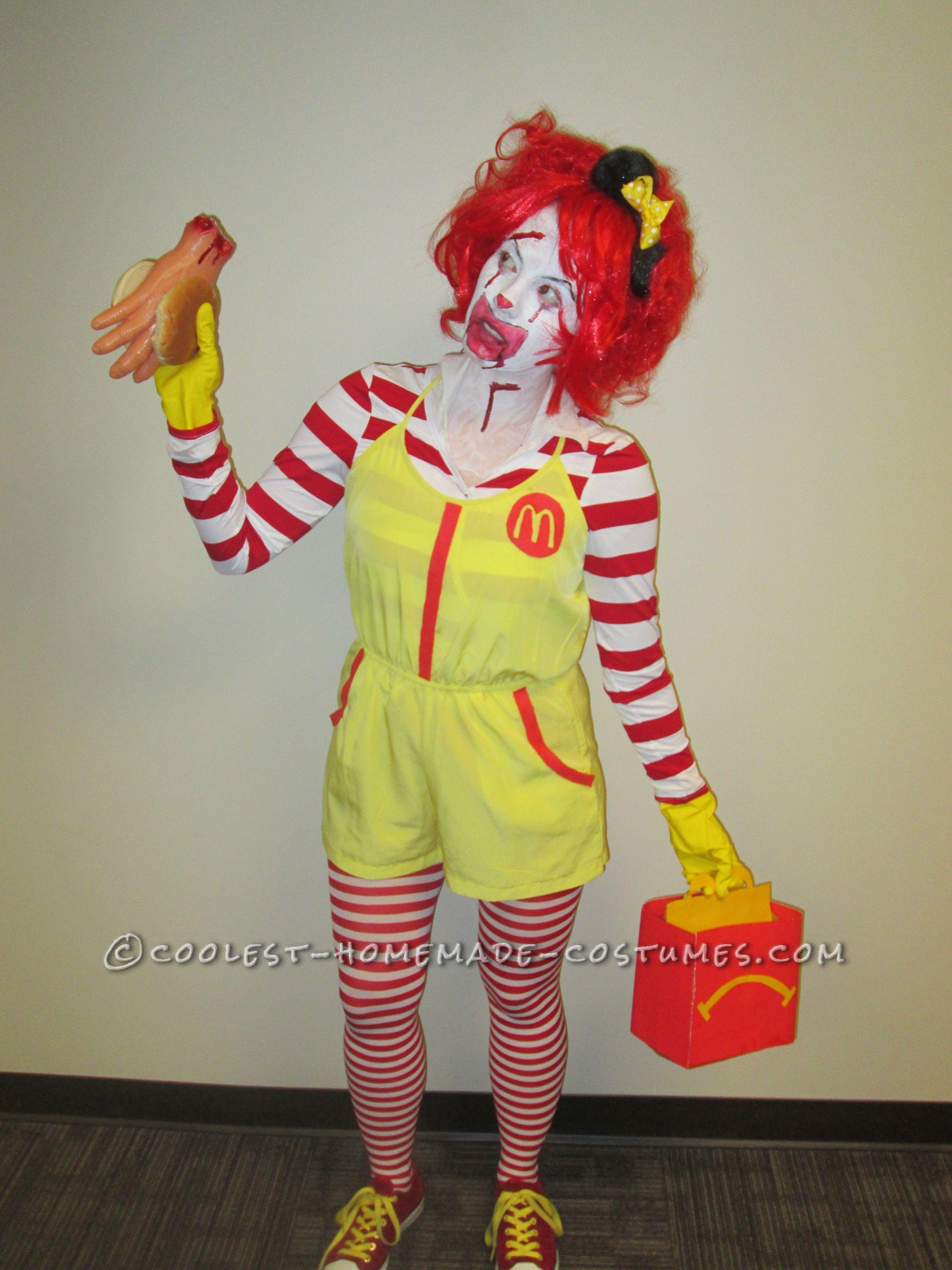 super creepy serial killer ronald mcdonald costume | coolest