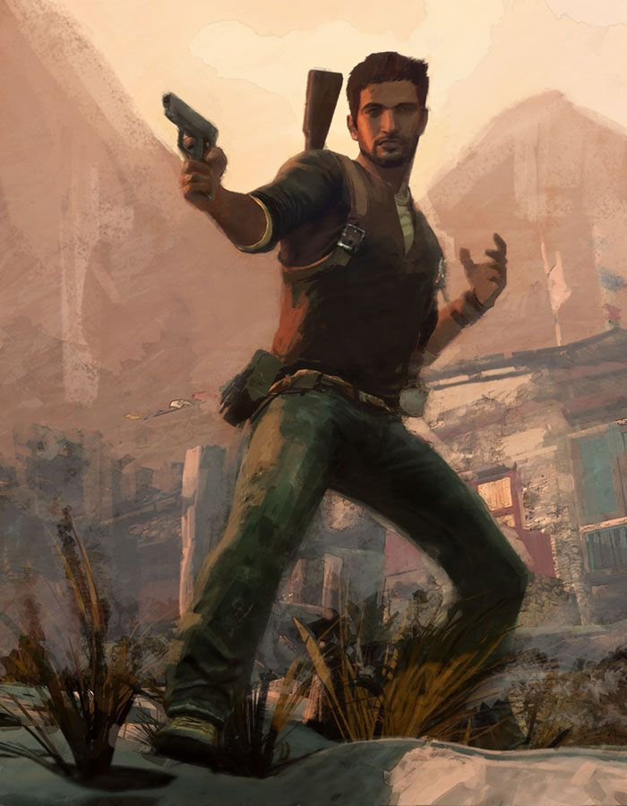 Nathan Drake Pictures Characters Art Uncharted 2 Among