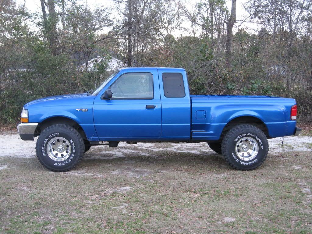 blue 2000 ford ranger step side