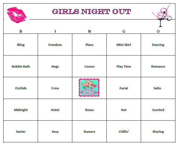 S Night Out Party Bingo Is A Fun Way To Celebrate Your Time And