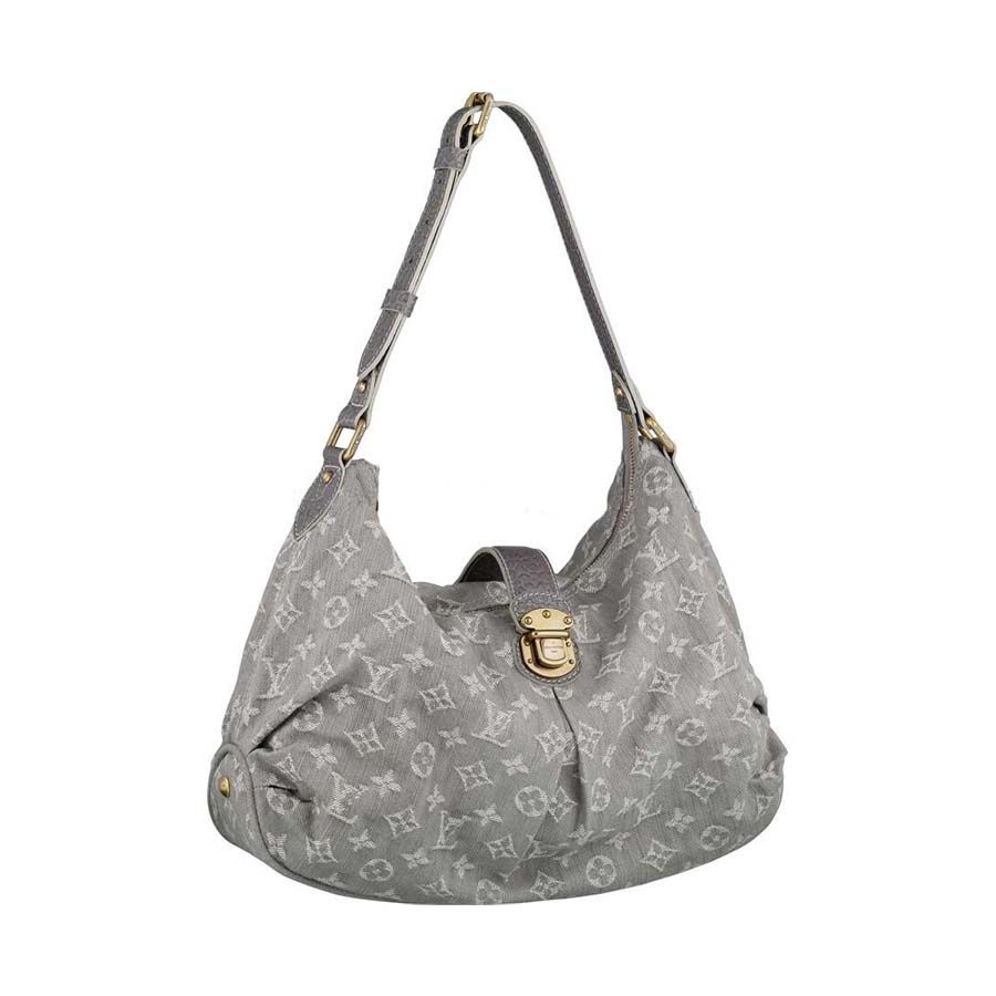 Louis Vuitton Slightly Gray Gris Monogram Denim Shoulder Bag 6y3wb1Z