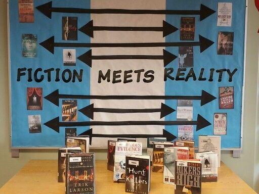 Fiction meets Reality | Library Display Ideas | Pinterest ...